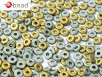 O bead Gold 1/2 White Matted - 5 g