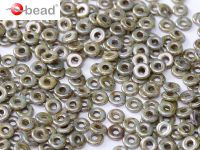 O bead Luster Green - Opaque White - 5 g