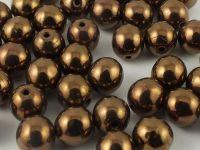 Round Beads Dark Bronze 6 mm - 20 sztuk