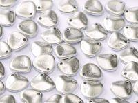 Rose Petals Matte Metallic Aluminium 8x7 mm - 10 sztuk