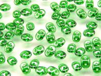 SuperDuo 2.5x5mm Luster Green - 10 g