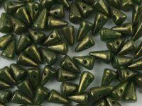 Spike Beads Green - Gold Melaphyr 8x5 mm - 20 sztuk