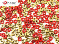 O bead Gold 1/2 Opaque Red - 5 g
