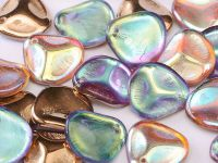 Rose Petals Crystal Copper Rainbow 14x13 mm - 5 sztuk