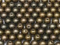 Round Beads Matte Metallic Zinc Iris 6 mm - 20 sztuk