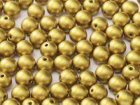 Round Beads Matte Metallic Aztec Gold 6 mm - 20 sztuk