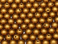 Round Beads Matte Metallic Brass Gold 6 mm - 20 sztuk
