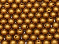 Round Beads Matte Metallic Brass Gold 6 mm - 20 sztuk