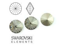 Rivoli Swarovski 8 mm Crystal Silver Shade F - 2 sztuki