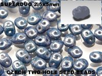 SuperDuo 2.5x5mm Luster - Metallic Blue - 100 g