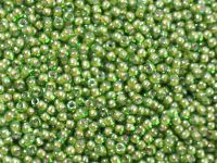TOHO Round 11o-1046 Inside-Color Luster Peridot - White Lined - 10 g
