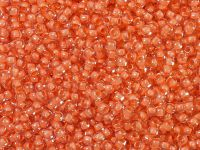 TOHO Round 11o-964 Inside-Color Crystal - Dark Coral Lined - 10 g