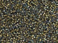 TOHO Round 15o-271 Inside-Color Black Diamond - Gold-Lined - 5 g