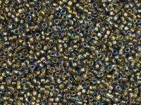 TOHO Round 15o-271 Inside-Color Black Diamond - Gold-Lined - 5 g
