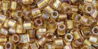 TOHO Hex 8o-268 Inside-Color Rainbow Crystal - Gold Lined - 10 g