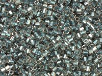 TOHO Hex 11o-288 Inside-Color Crystal - Metallic Blue Lined - 10 g