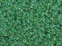 TOHO Round 11o-187 Inside-Color Crystal - Shamrock Lined - 10 g
