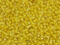 TOHO Round 11o-192 Inside-Color Crystal - Yellow Lined - 10 g