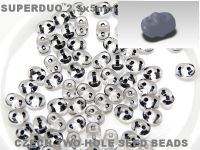 SuperDuo 2.5x5mm Black-Lined Crystal - 100 g