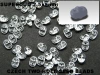 SuperDuo 2.5x5mm Crystal - 100 g