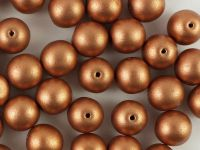 Round Beads Matte Metallic Copper 8 mm - 10 sztuk