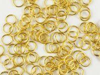 Ogniwko 6 mm w kolorze złotym - 5 g