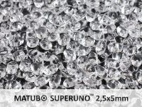 SuperUno 2.5x5mm Crystal - 10 g