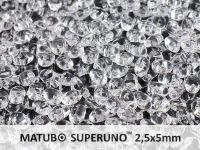 SuperUno 2.5x5mm Crystal - 10 g