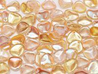 Rose Petals Crystal Yellow Rainbow 8x7 mm - 10 sztuk