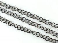 Łańcuch metalowy 7 mm kolor czarny - 20 cm
