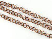 Łańcuch metalowy 7 mm stara miedź - 20 cm