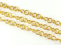 Łańcuch metalowy 7 mm kolor złoty - 20 cm