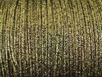 Sutasz rayon Gold-Black metalizowany strukturalny 2.5 mm - 1 m