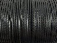 Sznurek lakierowany czarny 2 mm  - 2 m
