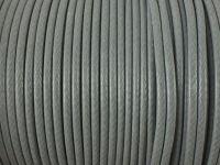 Sznurek lakierowany jasnoszary 2 mm - 2 m