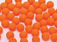 Round Beads Neon Orange 8 mm - 10 sztuk