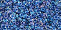 TOHO Round 11o-193 Inside-Color Luster Crystal - Dark Capri Lined - 10 g