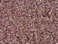 TOHO Round 15o-771 Inside-Color Rainbow Crystal - Strawberry Lined - 5 g