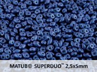 SuperDuo 2.5x5mm Metallic Suede Blue - 100 g