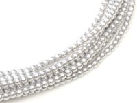Perełki szklane srebrne 3 mm - sznur