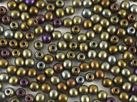 Round Beads Iris Brown 3 mm - 100 g
