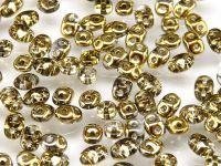 SuperDuo 2.5x5mm Gold 1/2 - 100 g