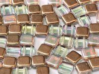 Tile 6mm Crystal Copper Rainbow - 20 sztuk