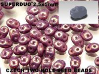SuperDuo 2.5x5mm Luster - Metallic Amethyst - 100 g