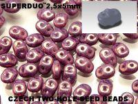 SuperDuo 2.5x5mm Luster - Metallic Amethyst - 100 g
