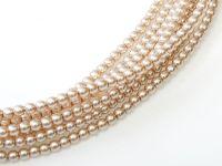 Perełki szklane różowo-beżowe 3 mm - sznur