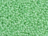 TOHO Round 11o-354 Inside-Color Crystal - Mint Julep Lined - 10 g