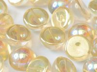 Dome Bead Crystal Yellow Rainbow 14x8mm - 1 sztuka
