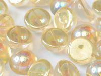 Dome Bead Crystal Yellow Rainbow 14x8mm - 1 sztuka