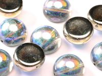Dome Bead Crystal Graphite Rainbow 14x8mm - 1 sztuka